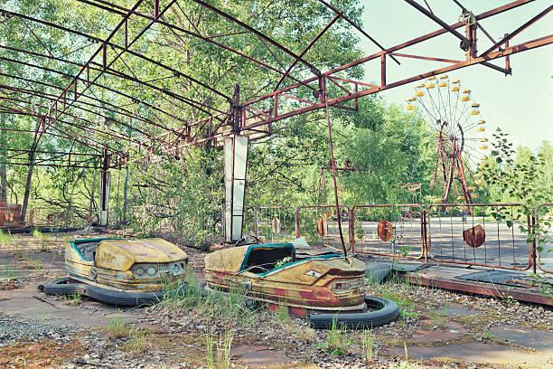 Abandoned Amusement Park of Pripyat, Ukraine stock photo