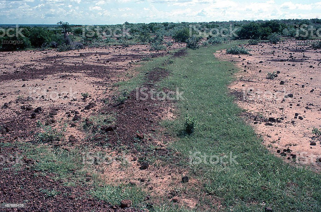 Abandoned and degraded Erosion Control Works outside the city of...