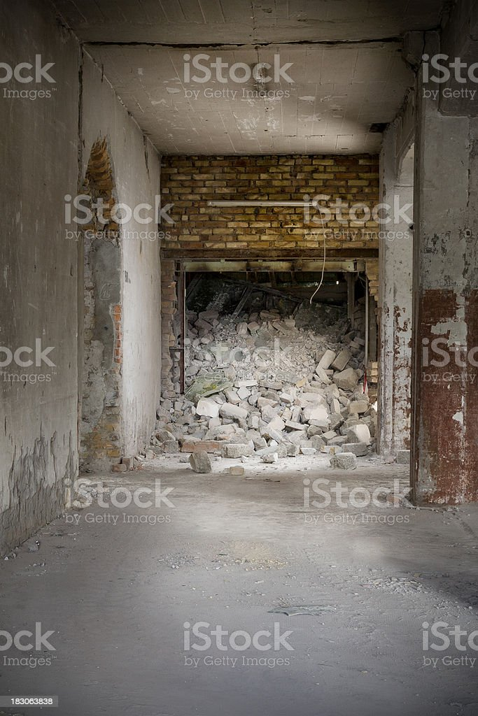 Abandoned and demolished factory building, boulder royalty-free stock photo