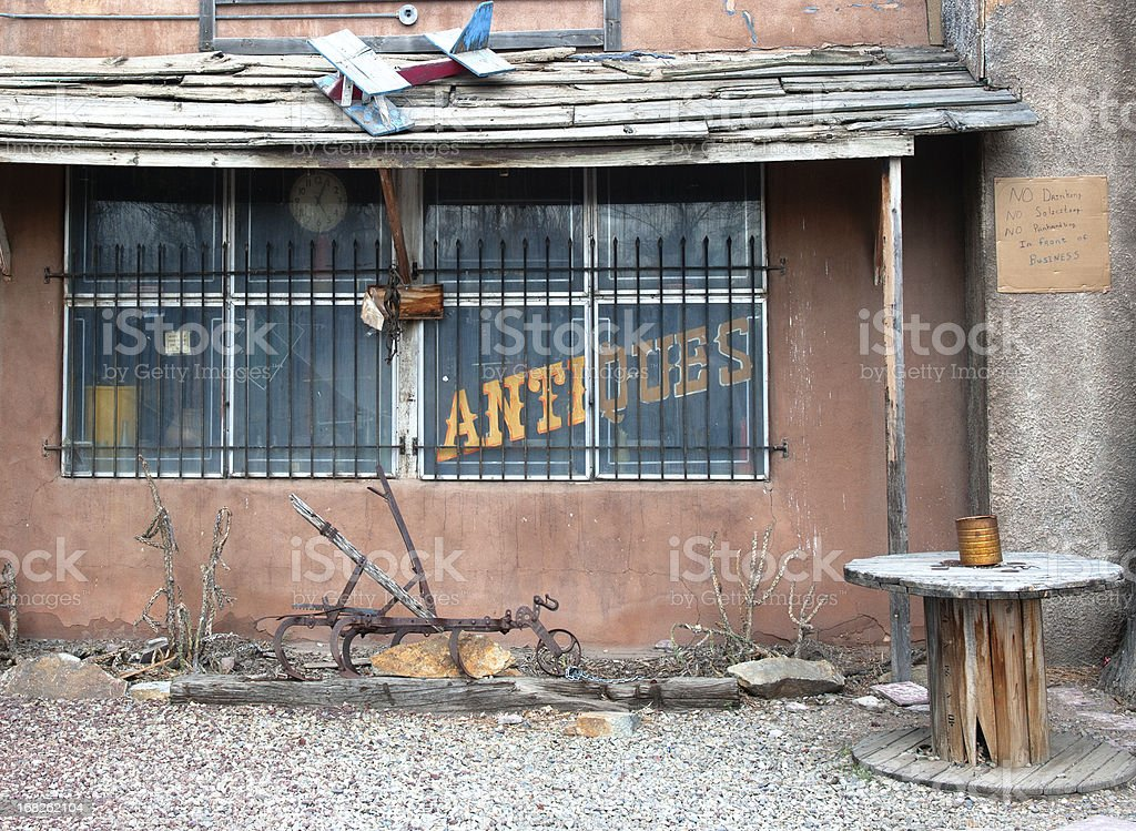 Abandoned Antique Gift Shop stock photo