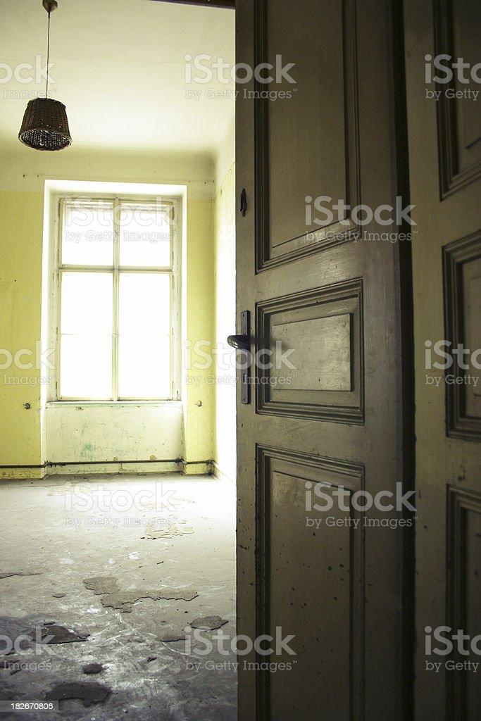 Abandoned apartment 2 stock photo