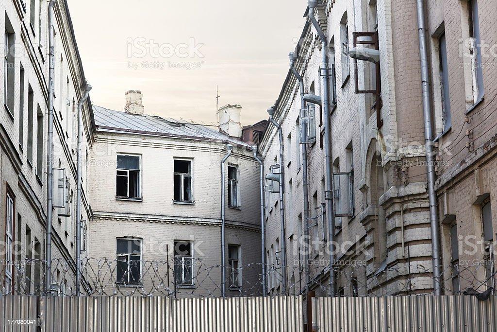 Abandoned Apartments royalty-free stock photo