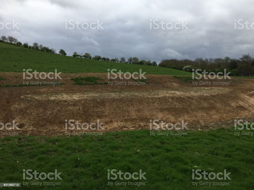Abandoned Archaeological site stock photo