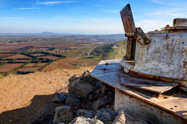 Verlassene Armee Außenposten am Golan-Höhen – Foto