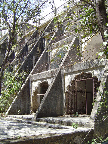 I visited this abandoned ashram in India back in 2005. After years of being abandoned, the jungle overtook the one pristine space used for teaching Transcendental Meditation.