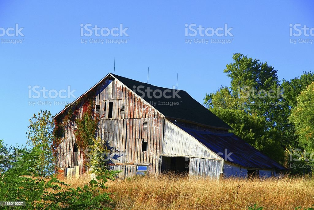 Abandoned barn house in a farm royalty-free stock photo