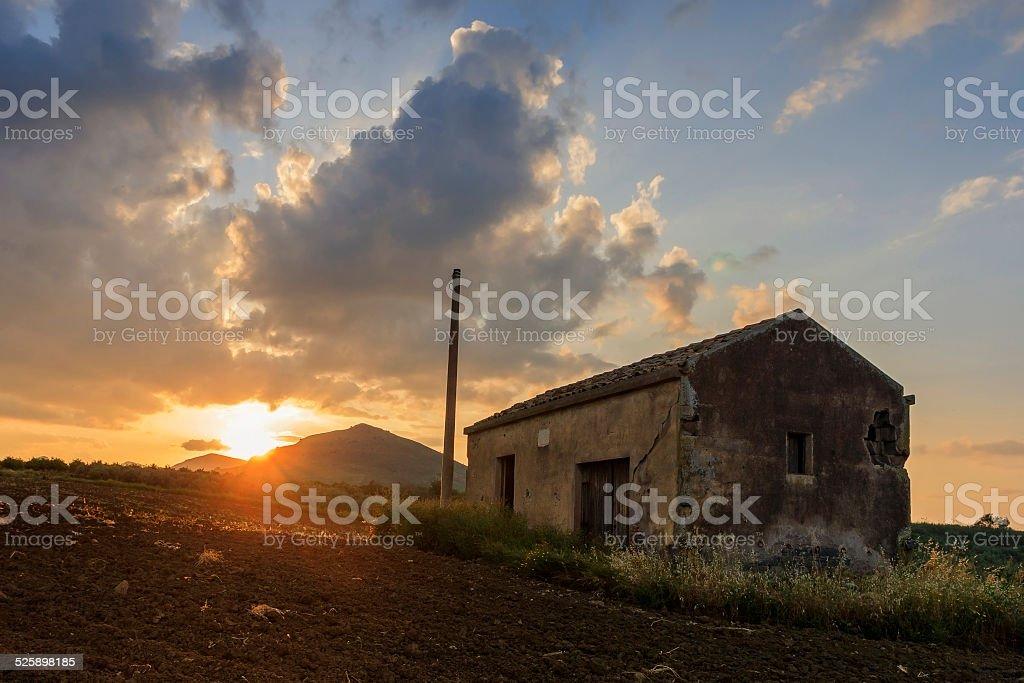 Abandoned barn stock photo