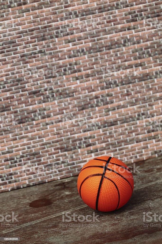 abandoned basketball ball royalty-free stock photo