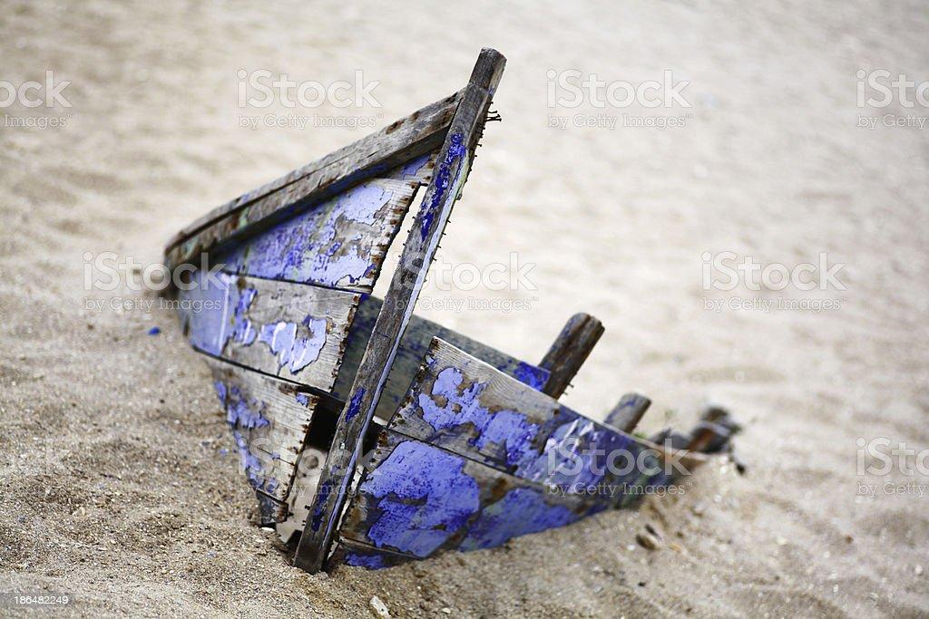 Abandoned boat royalty-free stock photo