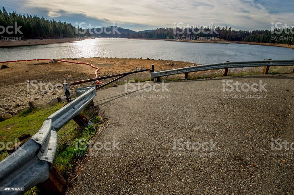 Abandoned Boat Ramp, Drought, Northern California. stock photo