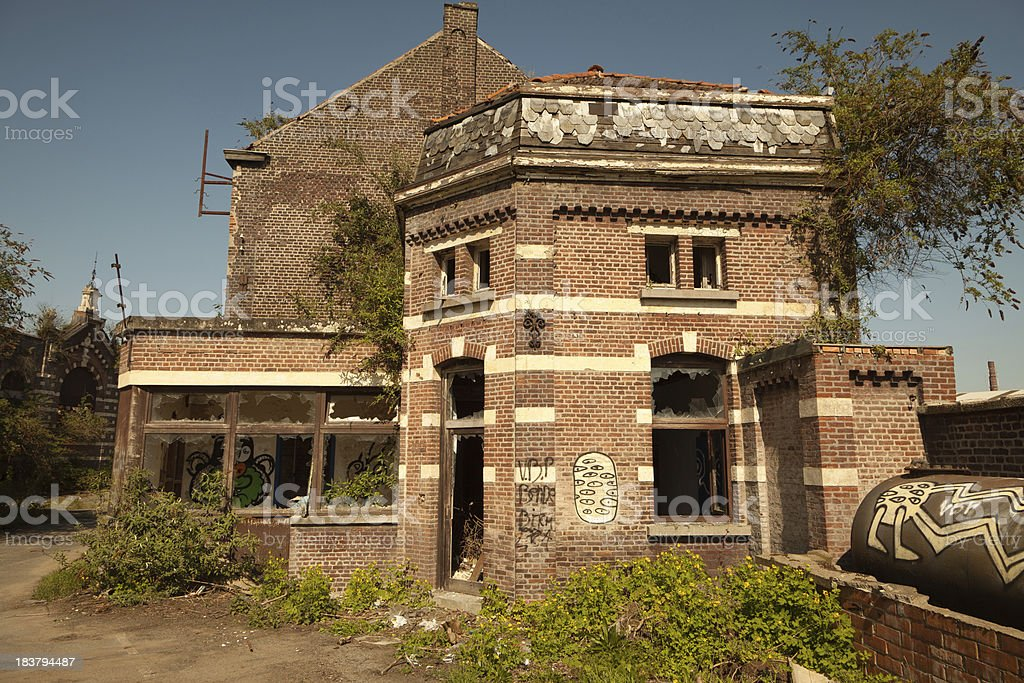 Abandoned building in decay royalty-free stock photo