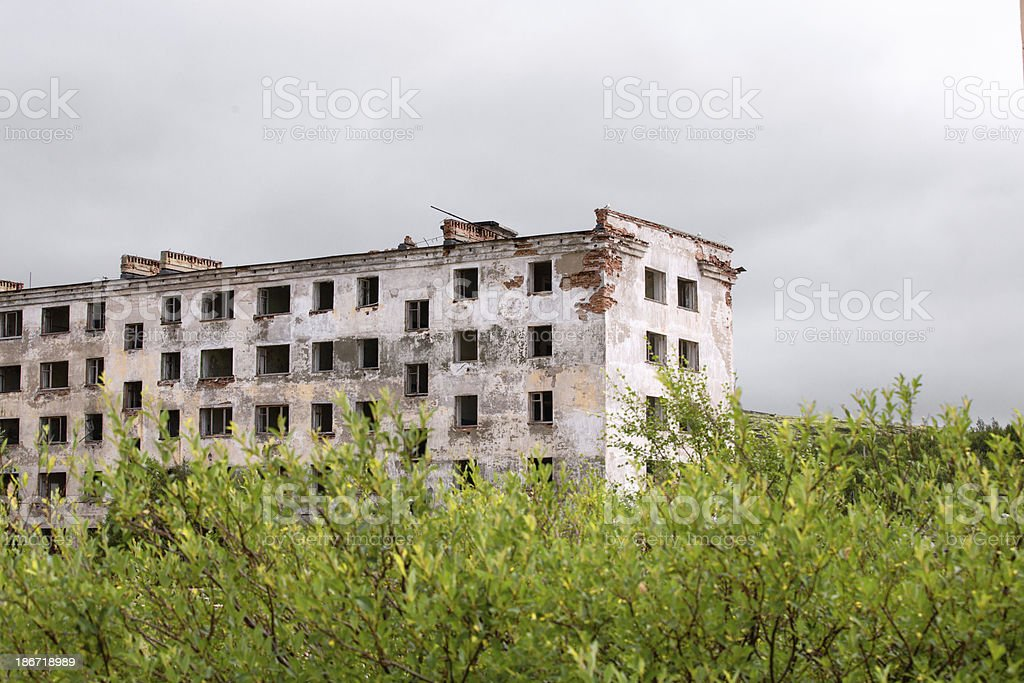 Abandoned Building in ghost town royalty-free stock photo