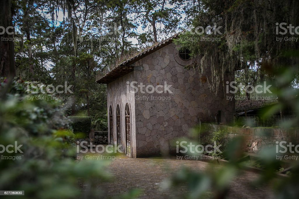 Abandoned building in Tegucigalpa, Honduras stock photo