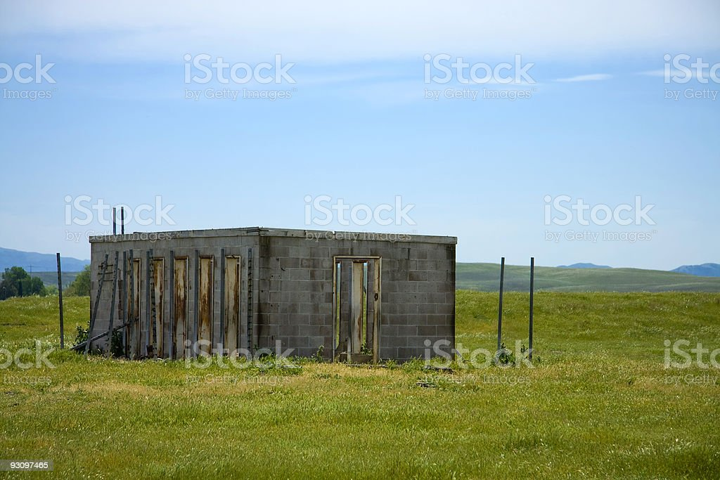 Abandoned Building in the Country royalty-free stock photo