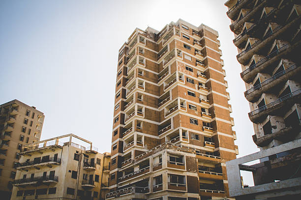Abandoned building in the district of Varosha of Famagusta, Cyprus – Foto