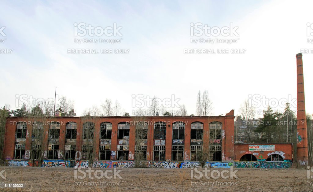 Abandoned Building Of Factory In Tampere Stock Photo Download Image Now Istock