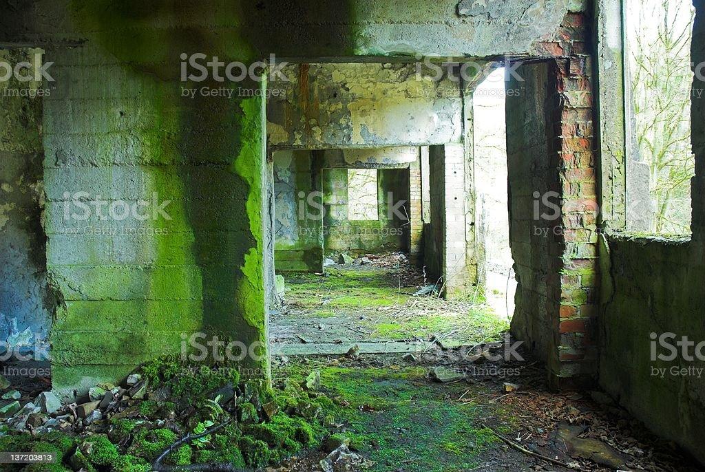 Abandoned Building Ruin stock photo