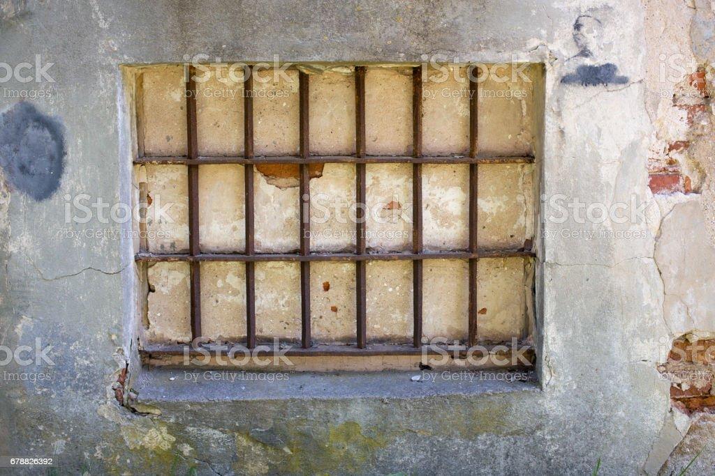 Terk edilmiş binalar cephe Daugavpils kale royalty-free stock photo