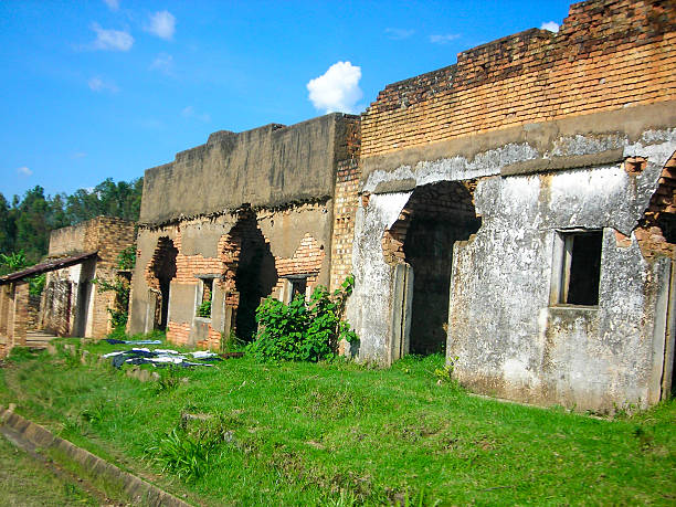 Abandoned Buildings from the Violence of the Genocide Rwanda Abandoned Buildings from the Violence of the Genocide Rwanda genocide stock pictures, royalty-free photos & images