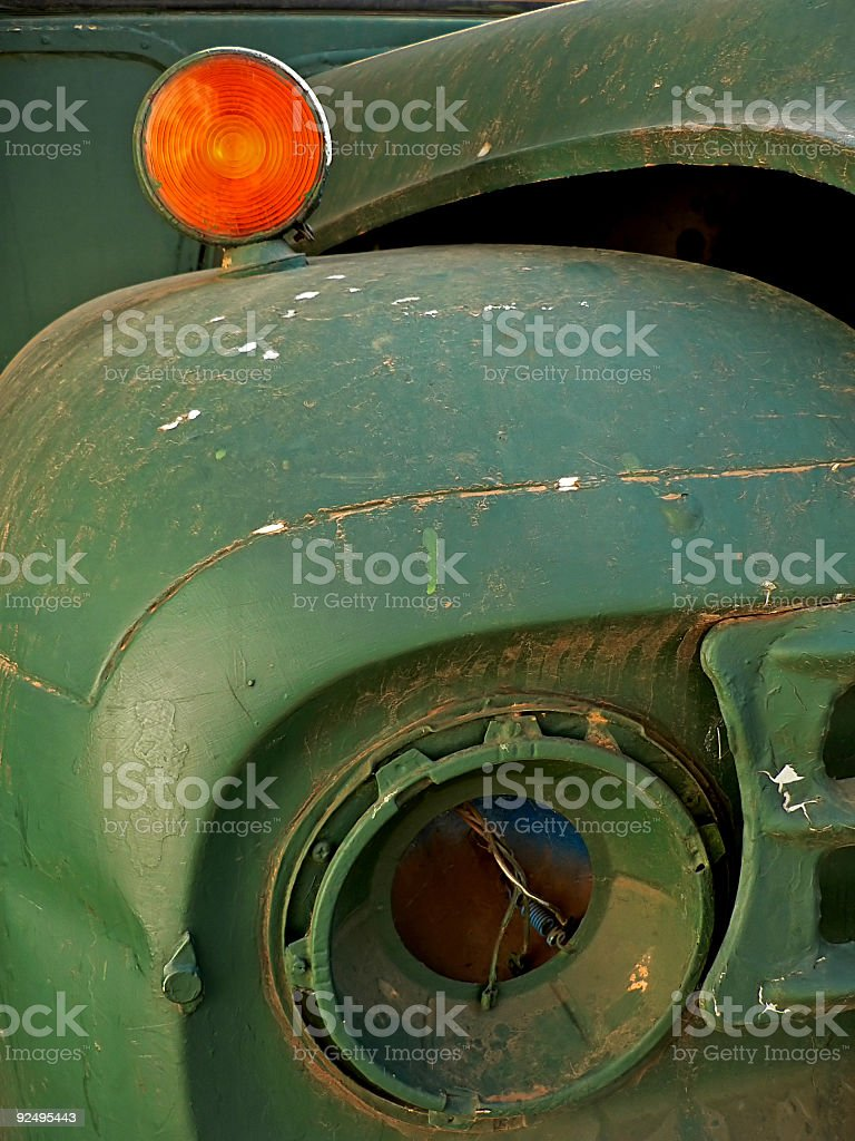 Abandoned bus royalty-free stock photo