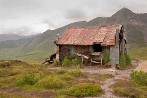 Abandoned cabin in the remote Alaska mountainsPlease see other Alaska pictures from my portfolio: