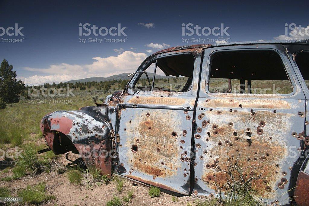 Abandoned Car royalty-free stock photo