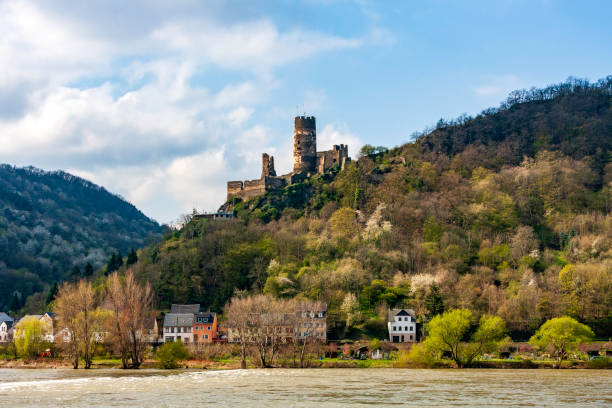 Abandoned Castles and quaint small towns are a frequent sight when cruising the Rhine River near the Rhine River groge