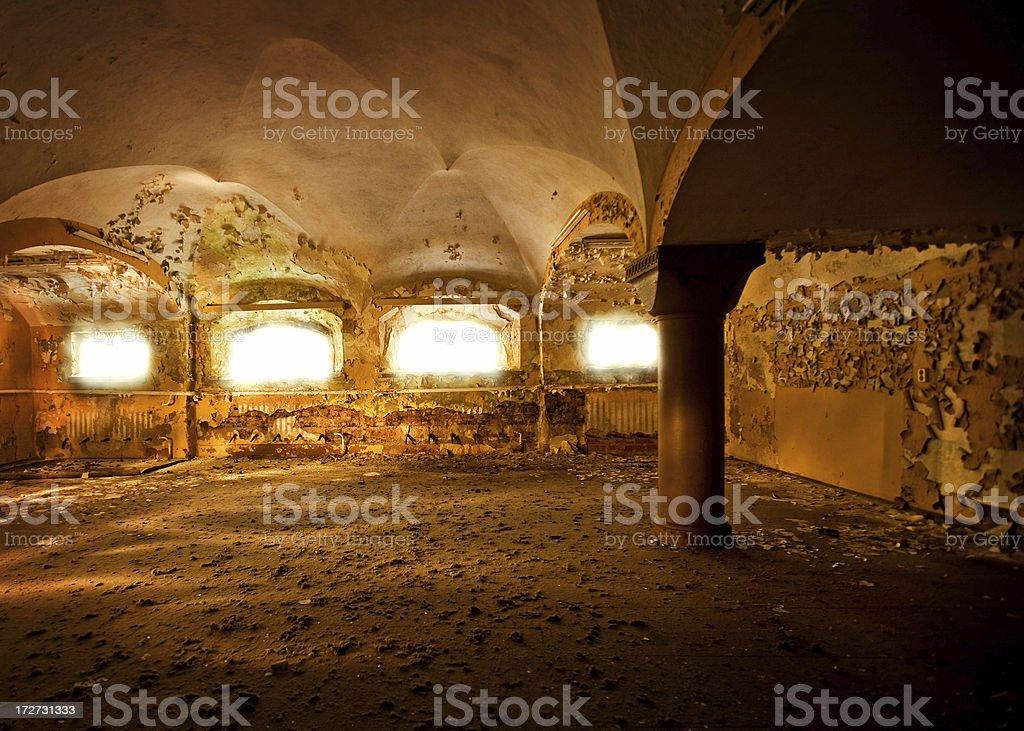 Abandoned Cellar royalty-free stock photo
