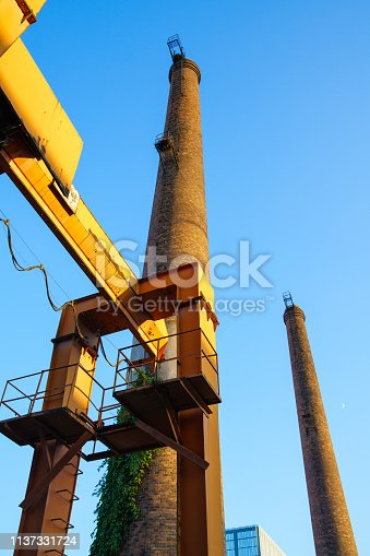 istock Abandoned chimney 1137331724