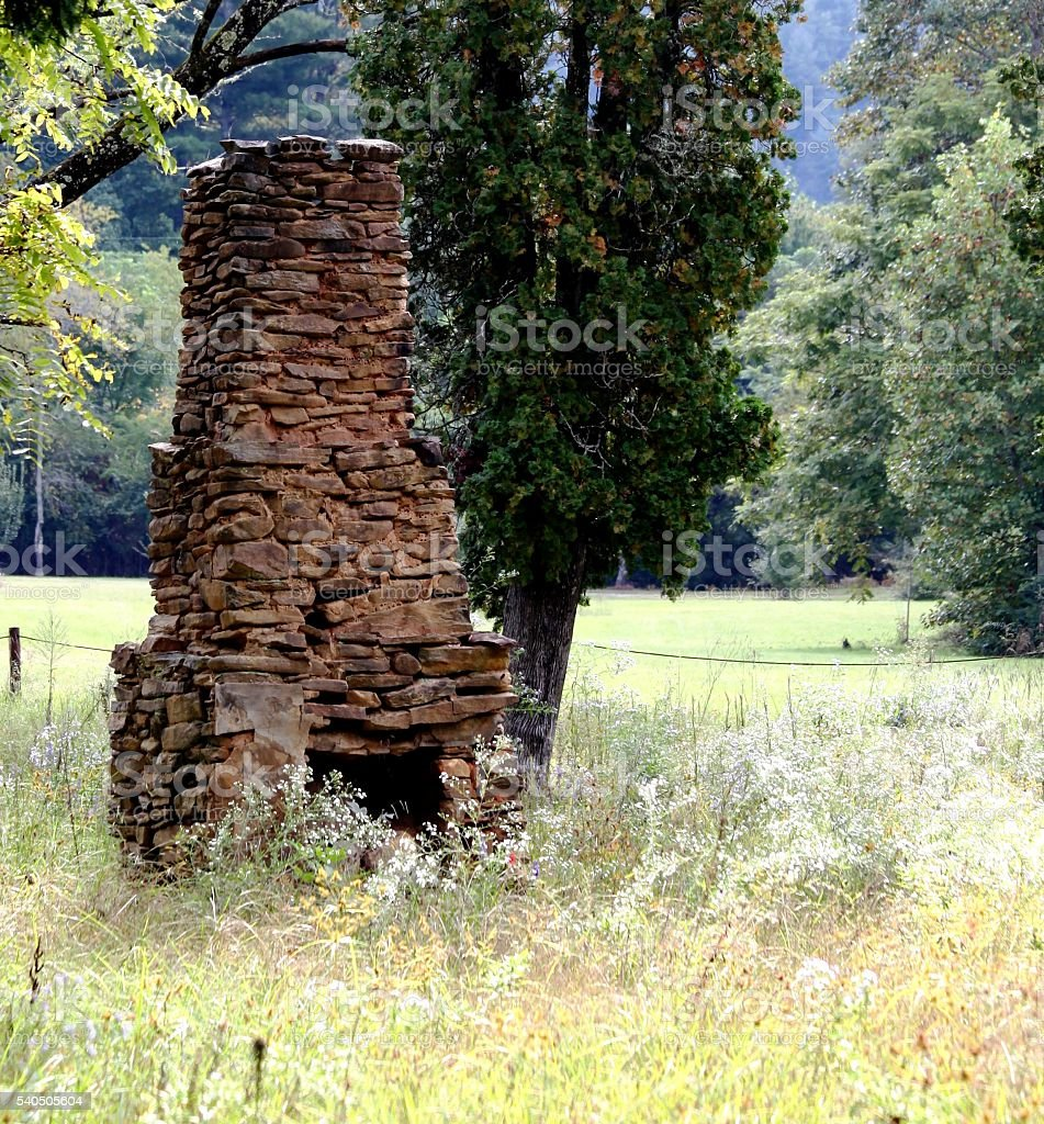 Abandoned Chimney stock photo