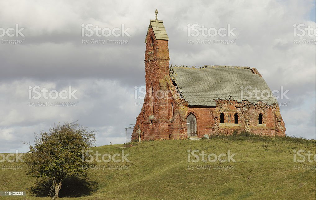Abandoned Church at Cottam, East Yorkshire royalty-free stock photo