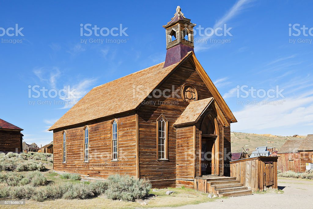 Abandoned Church - Bodie stock photo