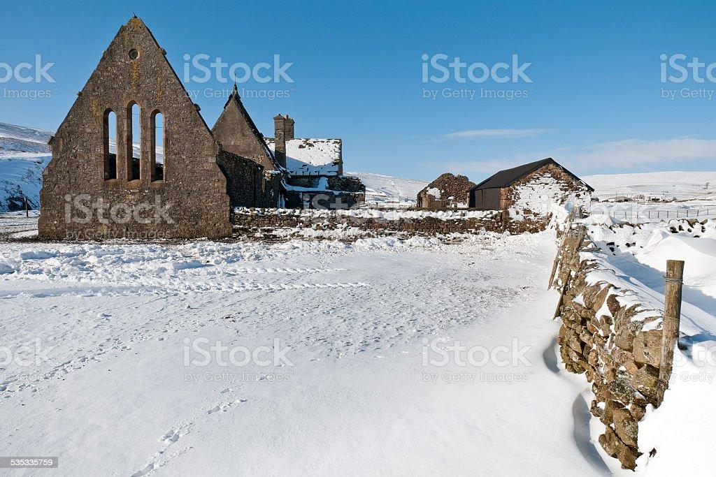 Abandoned church, Harwood, Upper Teesdale, County Durham, UK stock photo