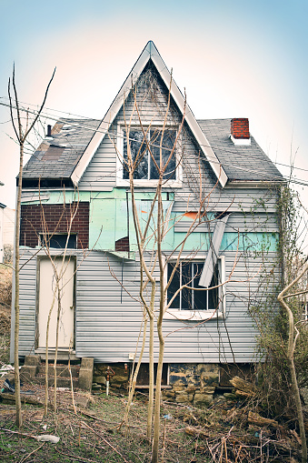 Abandoned City House Stock Photo - Download Image Now