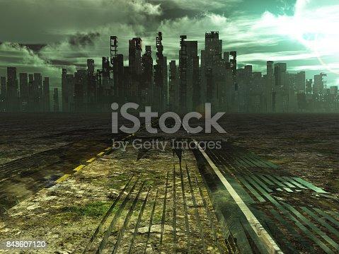 istock Abandoned city 848607120