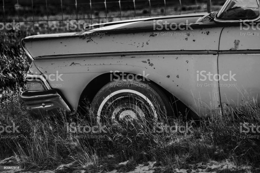 Abandoned Classic Car stock photo