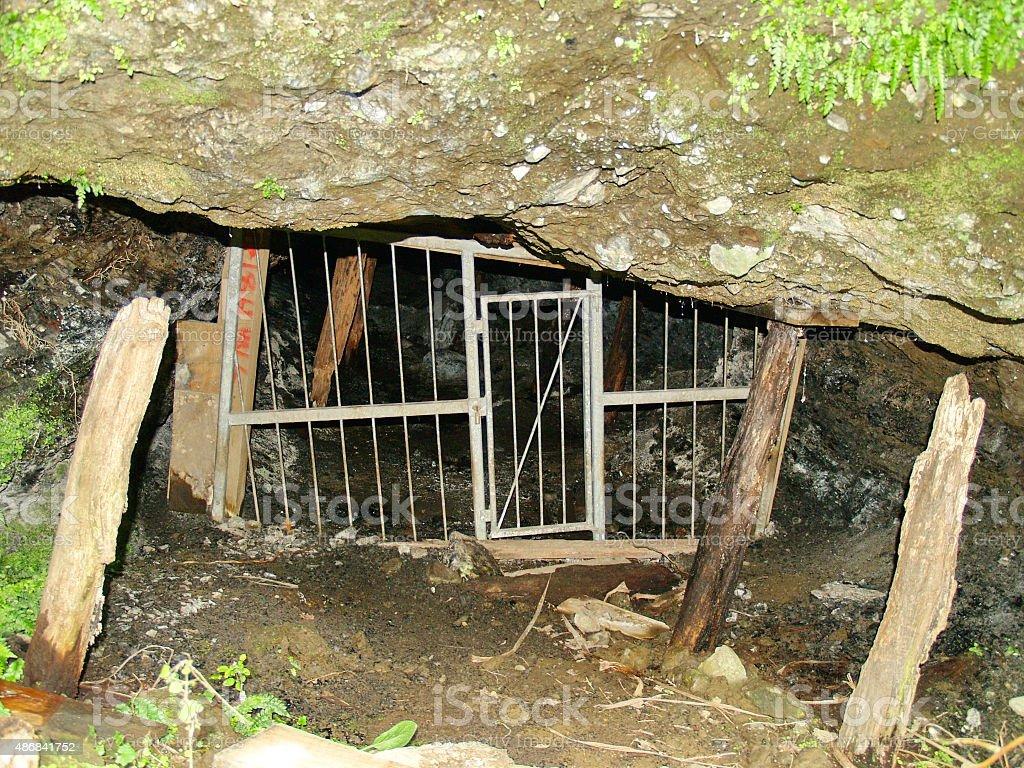 Abandoned coal mine in New Zealand stock photo