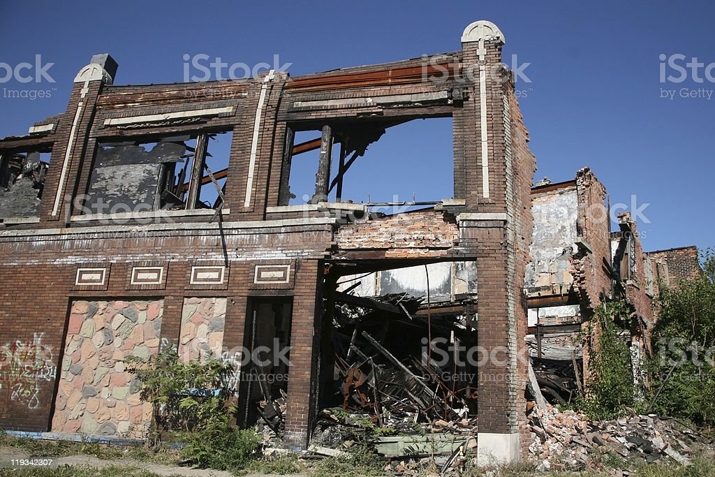 Abandoned commercial building stock photo