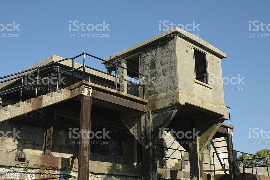 Abandoned concrete military building royalty-free stock photo