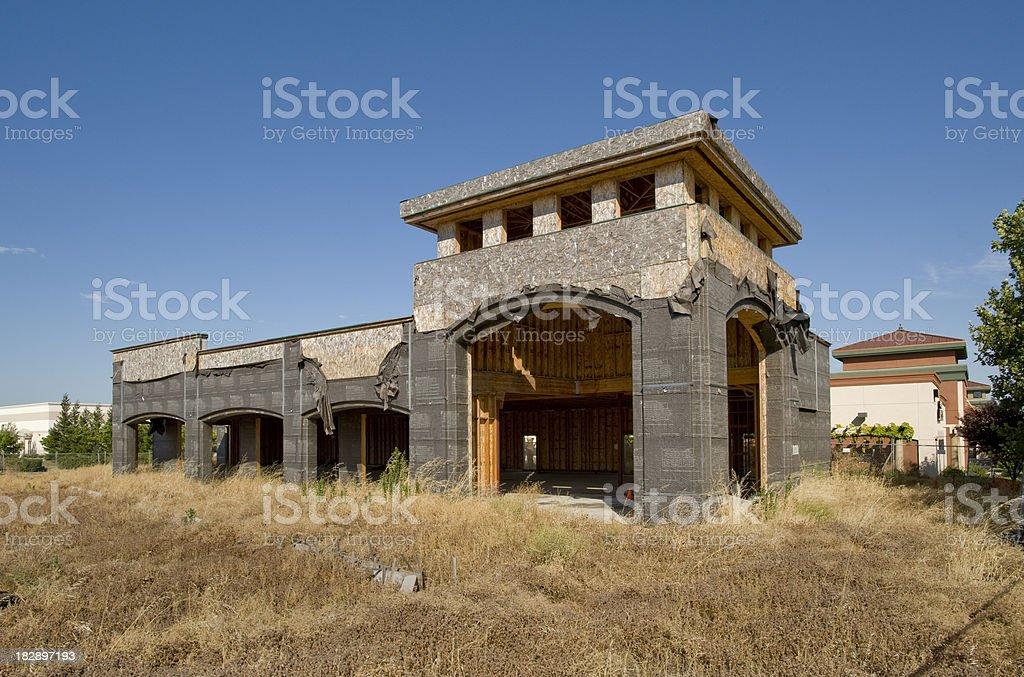 Abandoned construction project, California stock photo