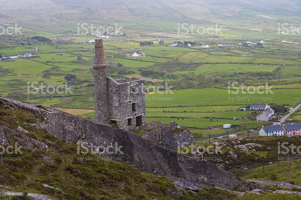 Abandoned Copper Mine in West Cork royalty-free stock photo