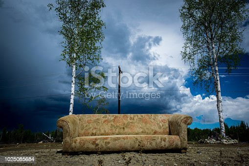 istock Abandoned couch 1025085684