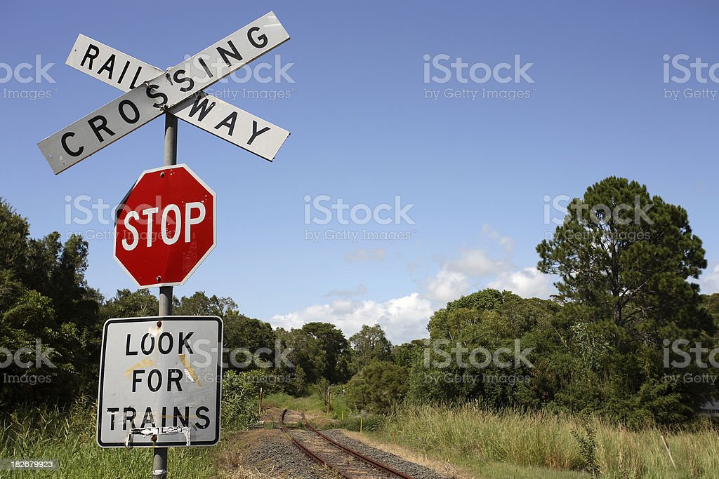 Abandoned Crossing royalty-free stock photo