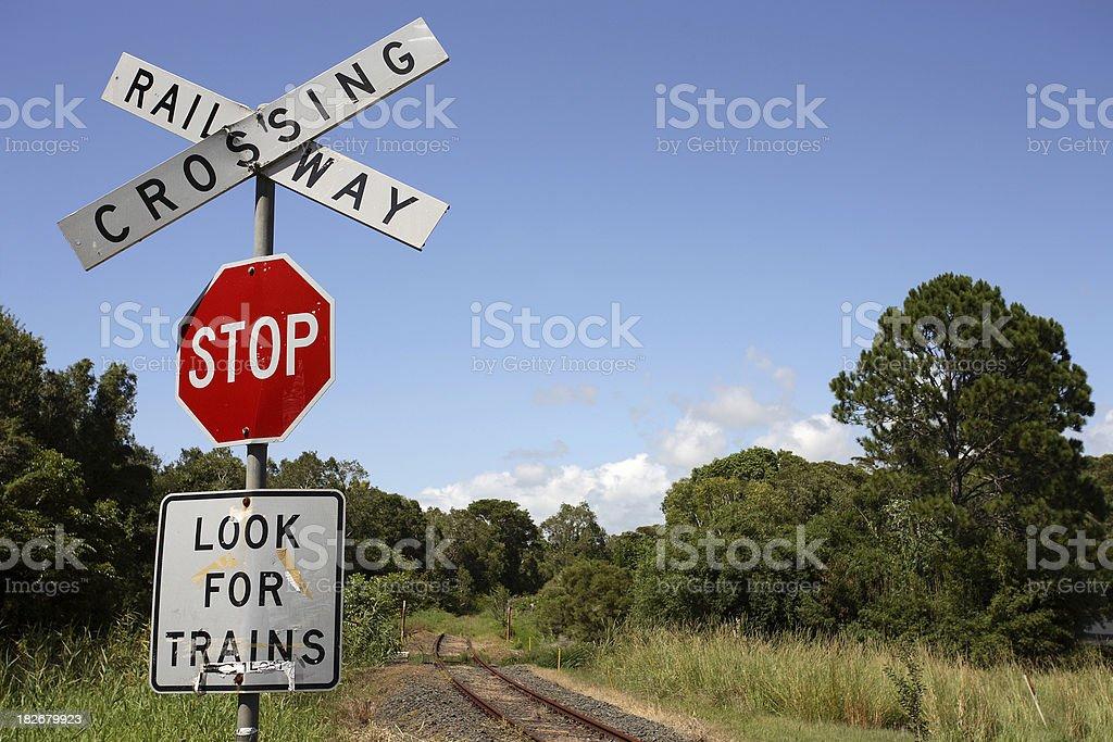 Abandoned Crossing stock photo