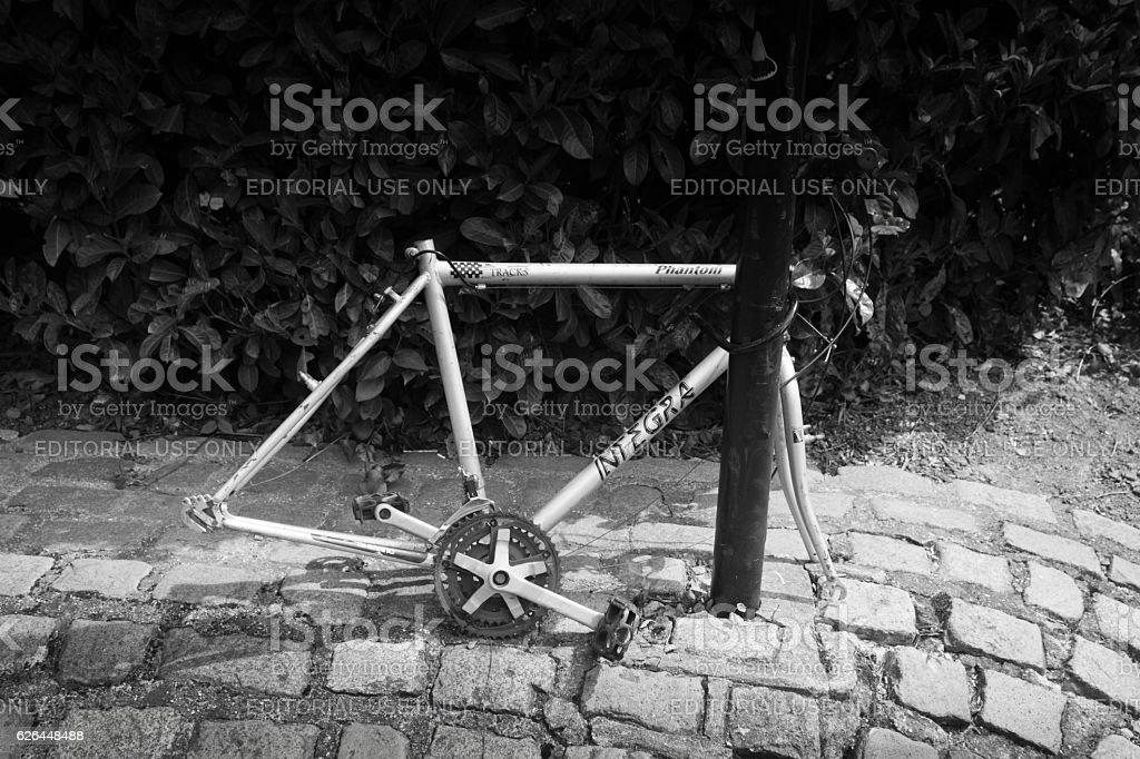 Abandoned cycle frame stock photo