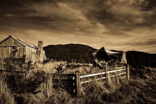 Abandoned derelict cottage old creepy eerie