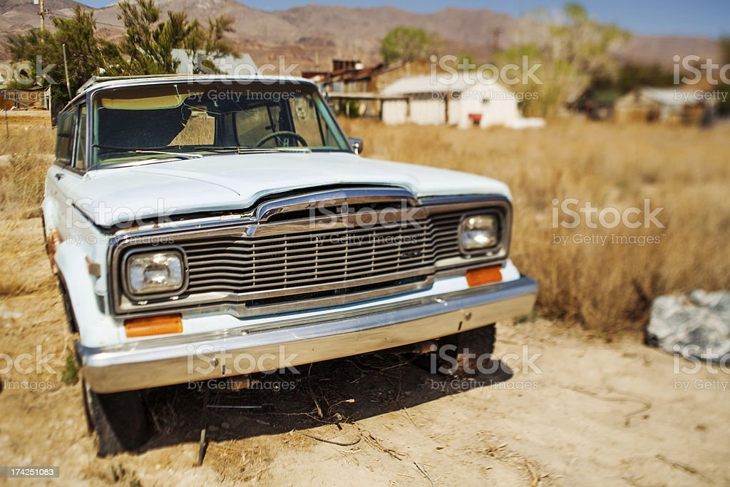 Abandoned desert truck royalty-free stock photo