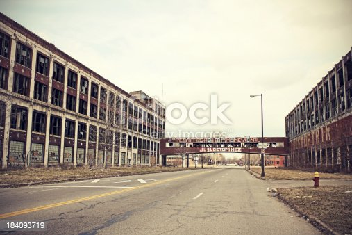 istock Abandoned Detroit Packard Plant 184093719