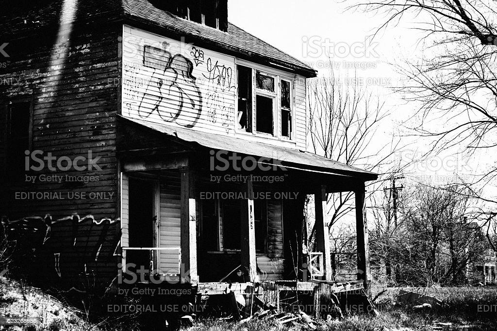 Abandoned Detroit. stock photo