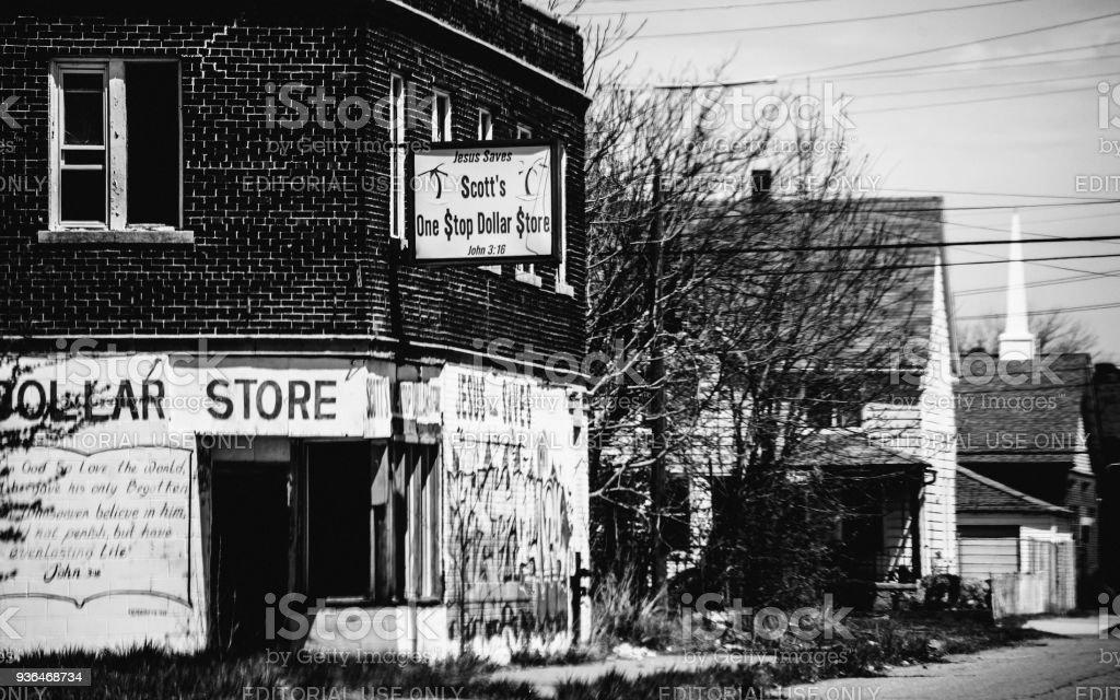 Abandoned Detroit stock photo